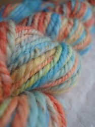 Koi handspun yarn by Snowberrylime
