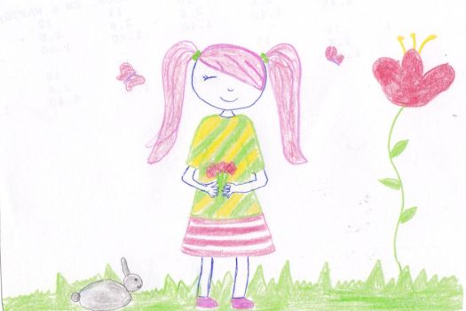 My Little Pony : Fluttershy as a human by CandySwirl2000