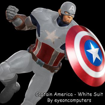 MvCI: Captain America - White Suit (v1) - C2 by eyeoncomputers