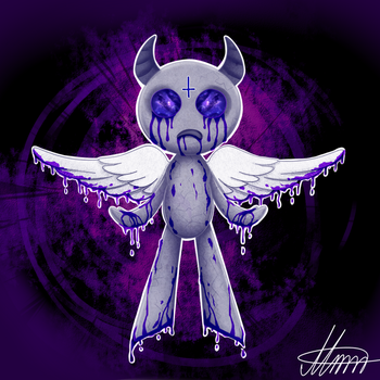 The Binding of Isaac - Apollyon by MereldenWinter