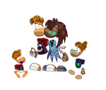 Rayman's Family - Origins Style by HedgeCatDragonix