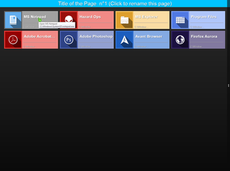 Preview: Rainmeter: HUB AppManager v0.1 (WIP1) by JpotatoTL2D