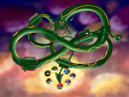 Come Forth, Rayquaza! Grant me my Wish by snowyneko