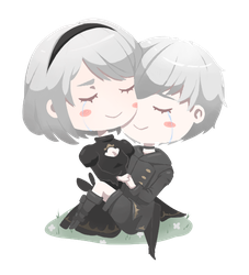 2B and 9S by SkyAboveUs