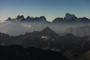 Ecrins at Twilight by RobertoBertero