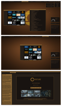 Aperture (Portal Inspired Theme and Rainmeter) by chloechantelle