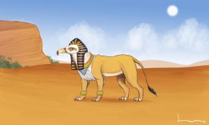 Hieracosphinx by Louisetheanimator