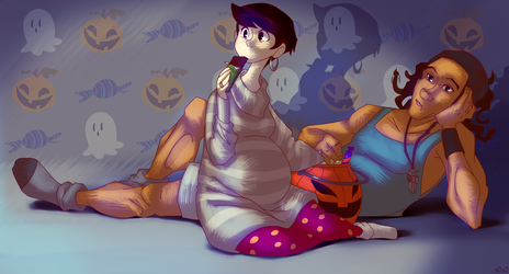 TMT: Filly 'n Paza Halloween by s0s2