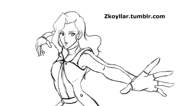 Asami- Airbending AU (animatied) by zkoyllar
