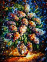 Night Lilac by Leonid Afremov by Leonidafremov