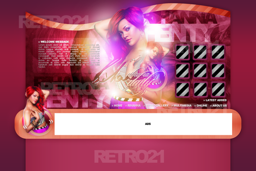 Rihanna Layout by R21Art