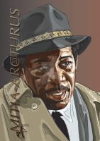 Morgan Freeman by Mitia-Arcturus