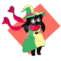 Ralsei with a flower crown by Lymitra