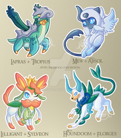 [Adopt] Pokemon Fusions by request mix [closed] by Seoxys6