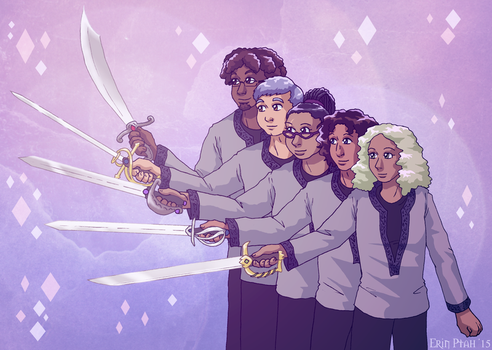 Knights and Heartswords by ErinPtah