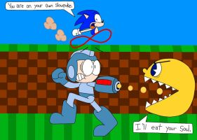 PacMan in Smash bros by gamer524