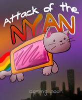 Attack of the Nyan .com/ic poster by Saber-Cow