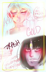 Trash talks to Gold by oXHersheyKissesXo
