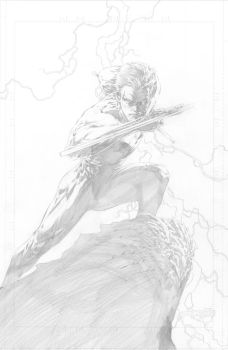 Nightwing print pencils by butones