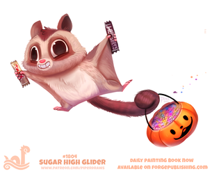 Daily Paint 1804# Sugar High Glider by Cryptid-Creations