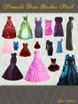 Premade Dress Stickers Pack by Lady-Valentine-Art83