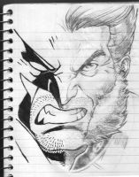 Wolverine Two Face Sketch 2017 by LucasAckerman
