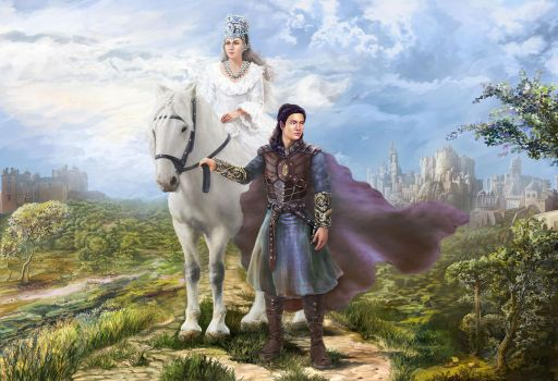 The Princess and the Warrior. On the way by Vilenchik