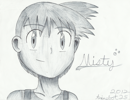 Ballpoint Pen Art: Misty by Animebot25
