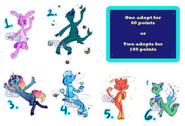 Cosmic Animal Adopts  [OPEN] by Cuttle-to-the-Bone