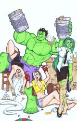 Hulk party by Gigatoast