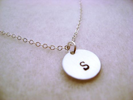 Initial Necklace by MauveMagpie