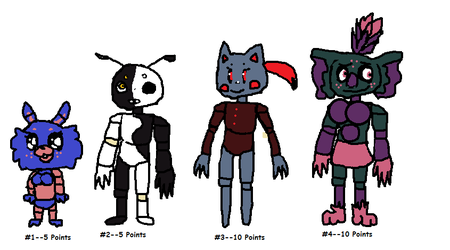 Fnaf adopts!! Cheap -- Batch 4 (Closed,see below) by SonicLover1523