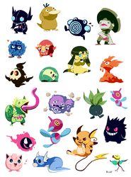 Pixel pokemon by bluekomadori