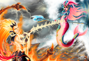 Zyra vs. Nami - League of Legends by Riyavi