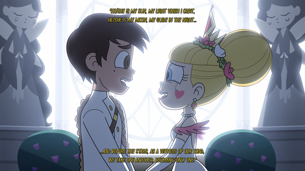 Star and Marco - Mewnian Wedding Vows by jgss0109
