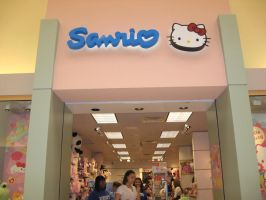 Hello Kitty Store by SolitaryGrayWolf