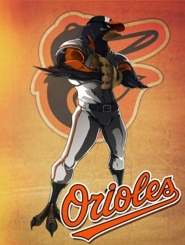 Orioles character concept by xarthoric