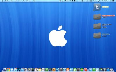 mountain lion desktop with flurry icons by msteright