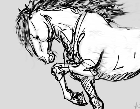 horse gesture sketch by KarlyMacDonald
