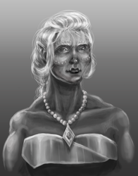 Orc Lady in grayscale by Kinkostfur