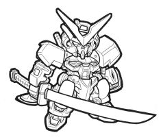 SD Astray Red Frame- Lineart by MobileSuitGio