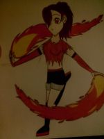 Fire Bending Teen by AngelicKatWolfLover