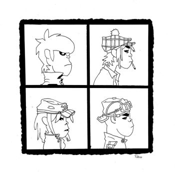 Demon Days Album Cover by AttackFly