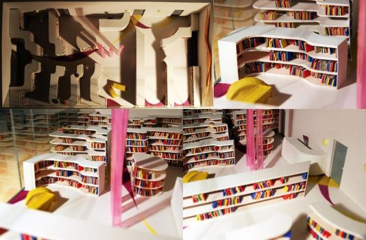 Model of library by aleksandrawolny