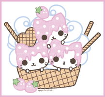 Ice Cream Kitties by littlepaperforest