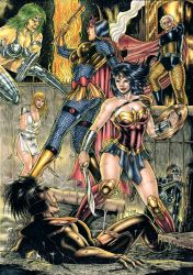 Wonder Woman and Big Barda vs Furies by Medsonlima