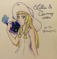 Lillie  Cosmog by serenchi