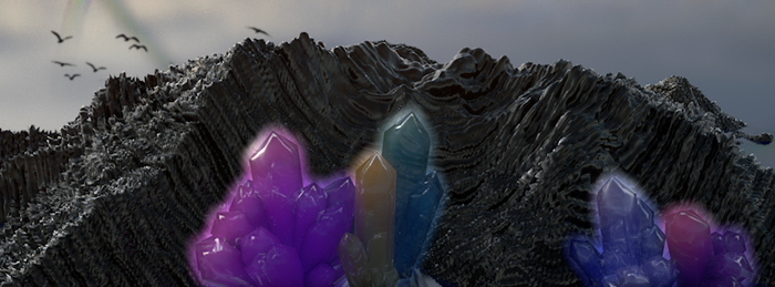 Landscape with Crystals by markuszeller