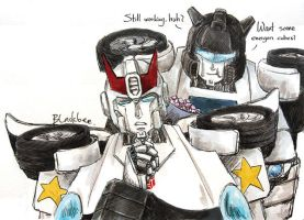 Transformers G1-Prowl and Jazz by eh7150
