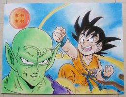 Piccolo and young Son Goku by SarahZaz